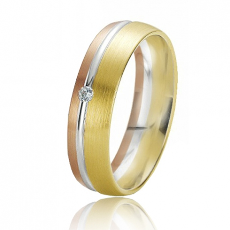 Alliance Rainbow Irène 5.5 mm 3 Ors diamant