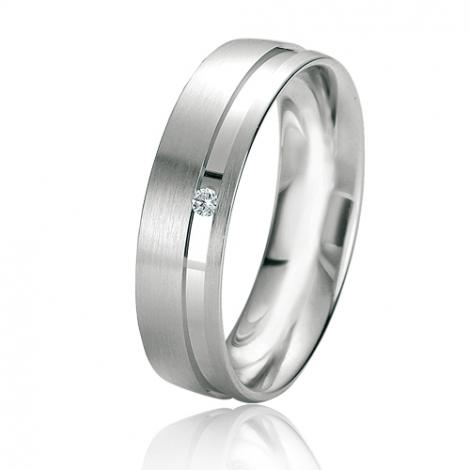 Alliance Rainbow Nolwenn 5.5 mm Or Blanc diamant