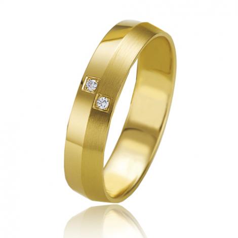 Alliance Slimline Anaëlle 4.5 mm Or Jaune diamant