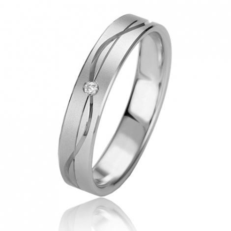 Alliance Slimline Aurélia 4 mm Platine 950 diamant