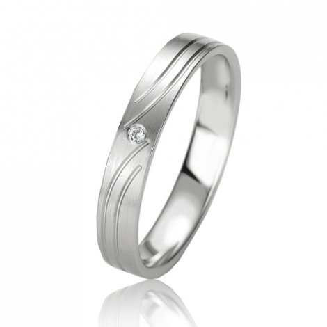 Alliance Slimline Charme 3.5 mm Platine 950 diamant