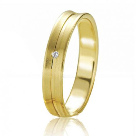 Alliance Slimline Claire 4 mm Or Jaune diamant