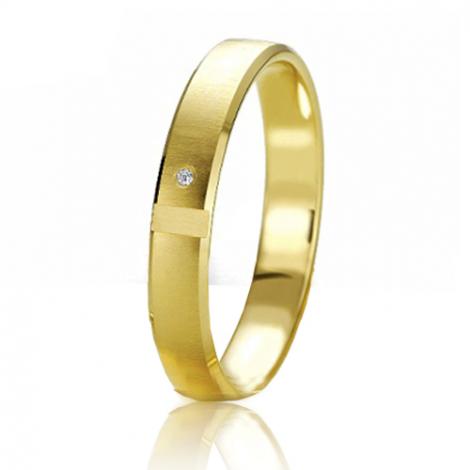 Alliance Slimline Elisa 3.5 mm Or Jaune diamant