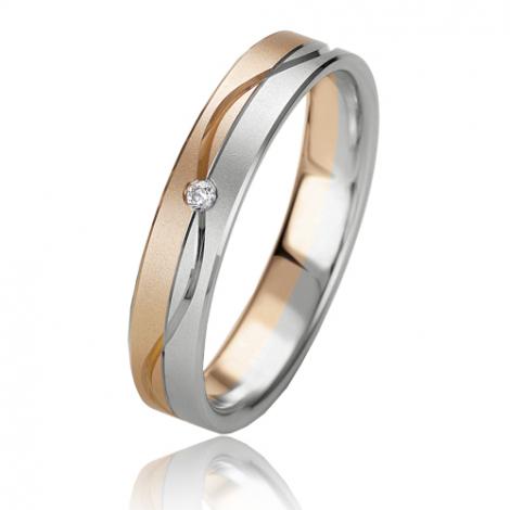 Alliance Slimline Emeline 4 mm 2 Ors diamant