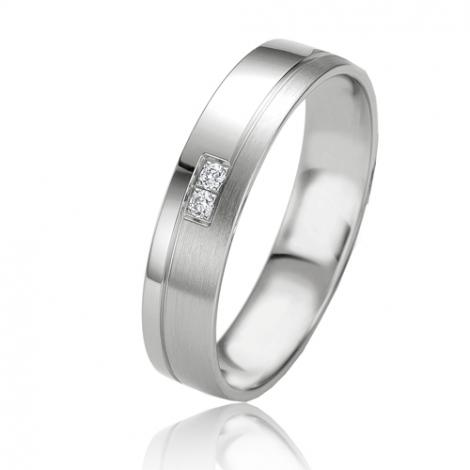 Alliance Slimline Julianne 4.5 mm Platine 950 diamant