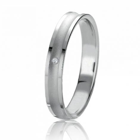 Alliance Slimline Loane 3.5 mm Or Blanc diamant