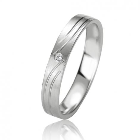 Alliance Slimline Magnificence 3.5 mm Or Blanc diamant