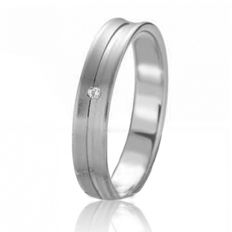 Alliance Slimline Mahély 4 mm Platine 950 diamant