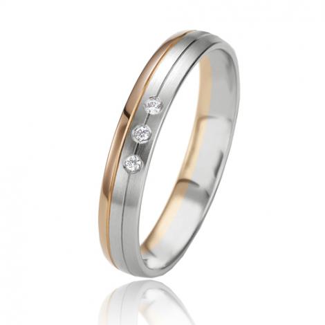 Alliance Slimline Rêveuse 3.5 mm 2 Ors diamant