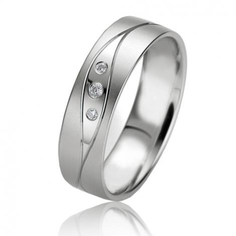 Alliance Smartline Élizane 5.5 mm Or Blanc diamant