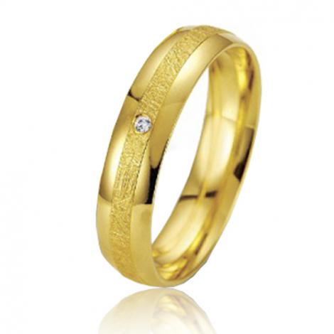 Alliance Smartline Amoureuse 4.5 mm Or Jaune diamant
