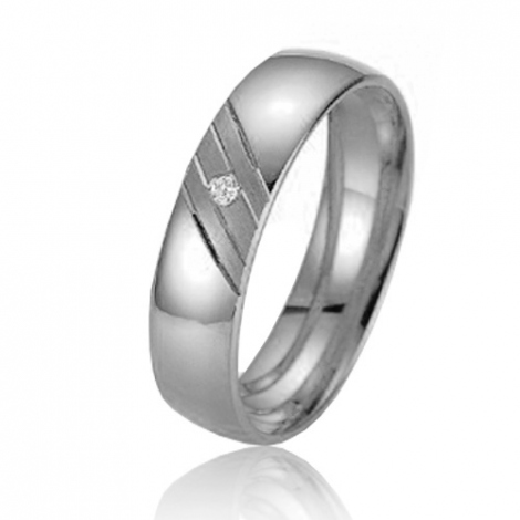 Alliance Smartline Azélie 5 mm Platine 950 diamant