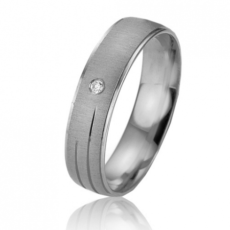Alliance Smartline Cordélia 5 mm Platine 950 diamant