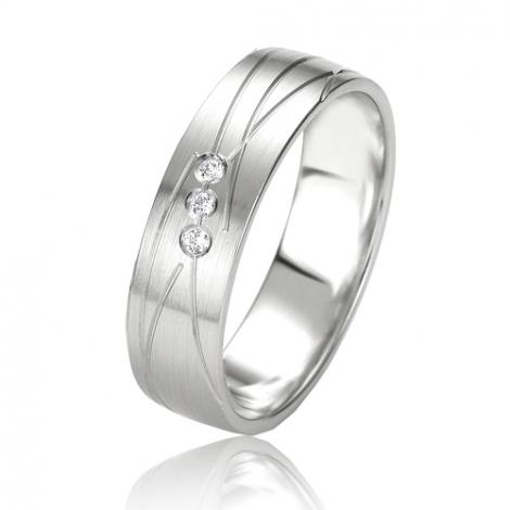 Alliance Smartline Délia 5.5 mm Or Blanc diamant