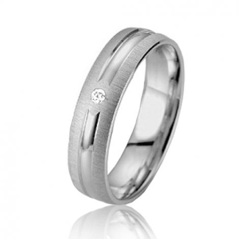 Alliance Smartline Élara 5 mm Or Blanc diamant