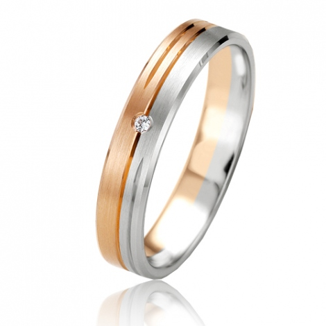 Alliance Smartline Eloïse 4 mm 2 Ors diamant