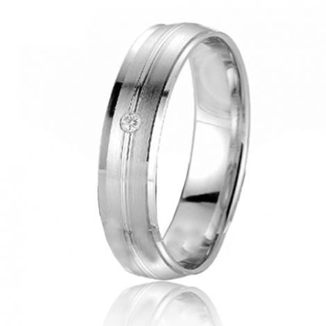 Alliance Smartline Flore 5 mm Or Blanc diamant