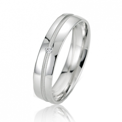 Alliance Smartline Isabelle 4.5 mm Or Blanc diamant