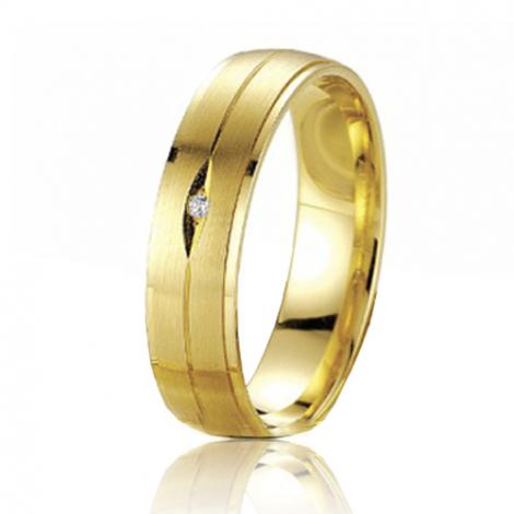 Alliance Smartline Maeva 5 mm Or Jaune diamant