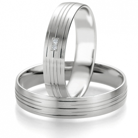 Alliance Smartline Ondine 4.5 mm Or Blanc diamant