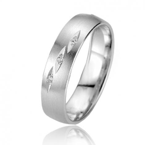 Alliance Smartline Rose 5 mm Or Blanc diamant