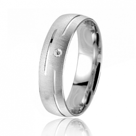 Alliance Smartline Roseline 5.5 mm Platine 950 diamant