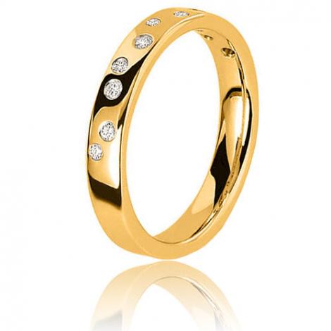 Alliance stellaire en or jaune sertie de diamants 0.16 ct Or Jaune - 0.16 ct - Ilona
