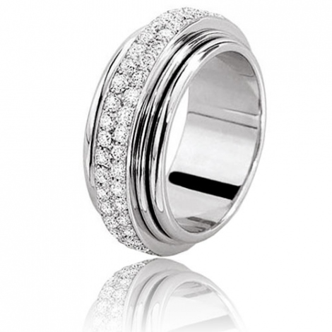 Alliance tournante Hydra 1.20ct en or blanc de 9 mm Or Blanc - 1.2 ct - Léanne