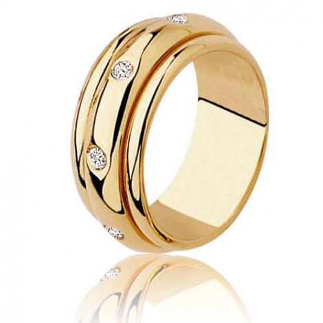 Alliance tournante sertie de diamants 0.28 ct or jaune Or Jaune - 0.28 ct - Katya