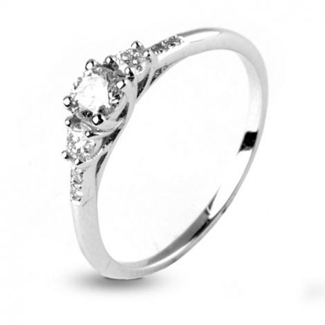 bague 3 diamants 0.43 ct - Esha - 12483-0.43