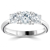 Bague 3 diamants et platine 0.40 ct - Tallulah - R3-143-platine