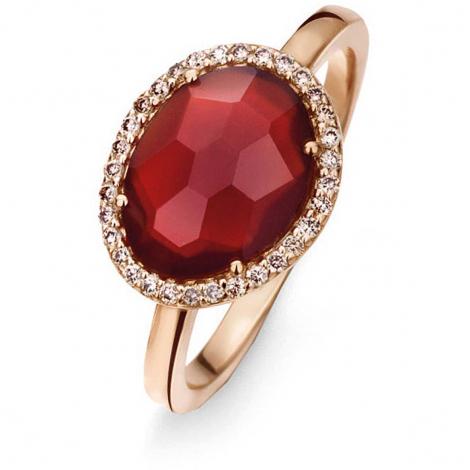 Bague Agate Rouge diamants bruns - One More 0.14 ct  - Stromboli 052780R3