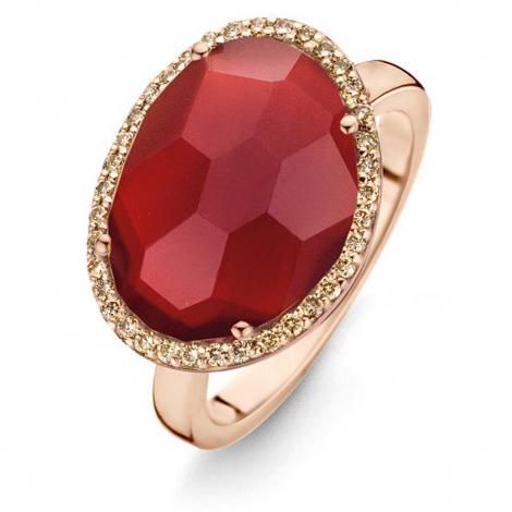 Bague Agate Rouge diamants bruns - One More - Stomboli 0.22 ct  - Stromboli 053727R3