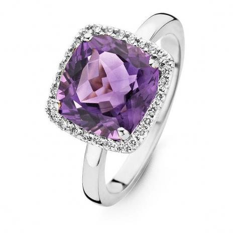 Bague Améthyste et Diamants One More - Etna 0.22 ct  - Etna 053926BA