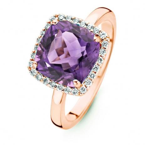 Bague Améthyste et Diamants One More - Etna 0.22 ct  - Etna 053983BA
