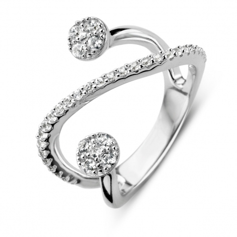 Bague argent et oxydes Naiomy Silver - Femme - Arianne - N7E09
