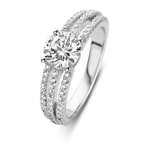 Bague argent et oxydes Naiomy Silver - Femme - Crystelle - N8E07