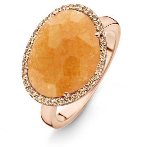 Bague Avanturine Orange et diamants bruns - One More 0.21 ct  - Stromboli 053727H3