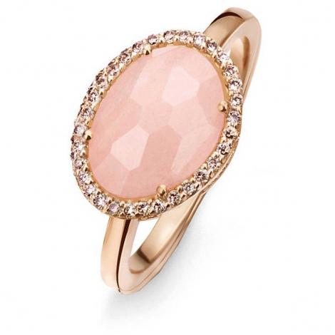 Bague Avanturine Rose et diamants bruns - One More - Stomboli 0.15 ct  - Stromboli 052780X3