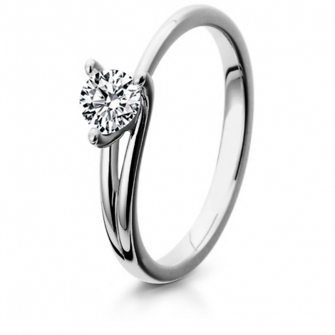 Bague de fiancaille en Or Blanc diamant de 0.10 ct - Alexa