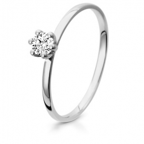 Bague de fiancaille en Or Blanc diamant de 0.10 ct - Anissa