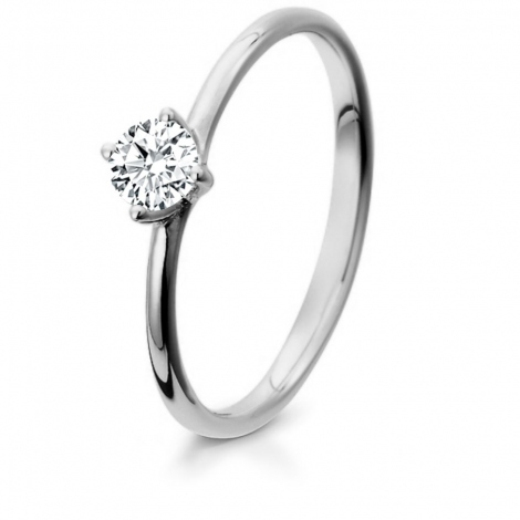 Bague de fiancaille en Or Blanc diamant de 0.10 ct - Clara