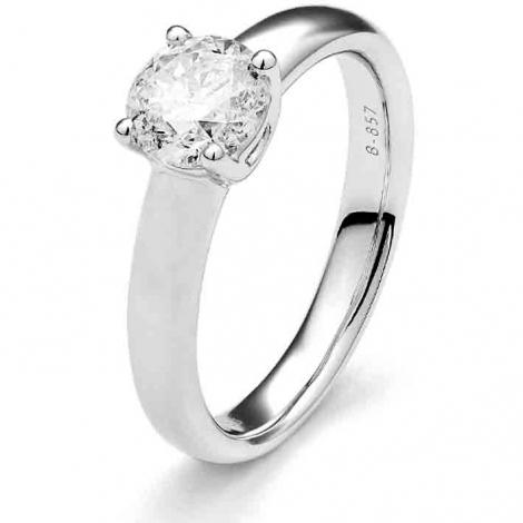 Bague de fiancaille en Or Blanc diamant de 0.10 ct - Gabrielle