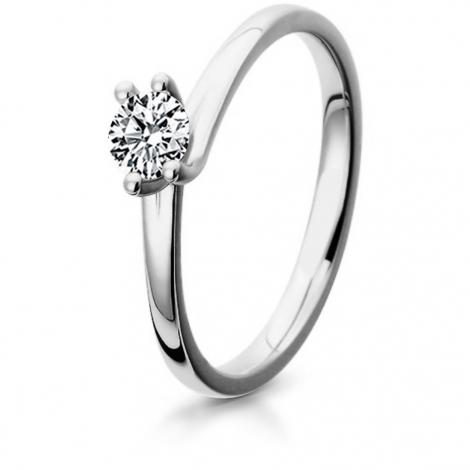 Bague de fiancaille en Or Blanc diamant de 0.10 ct - Hermione