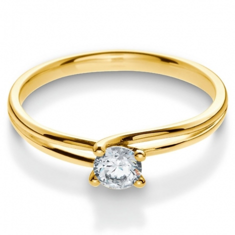 Solitaire bague or jaune