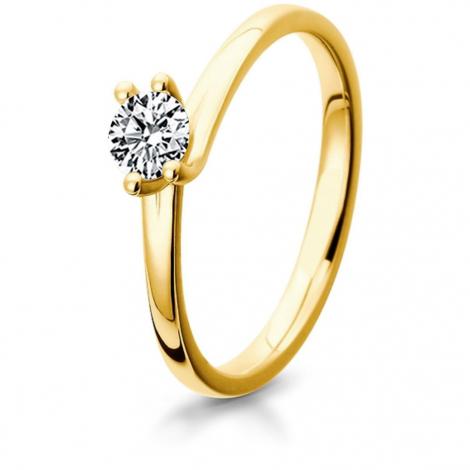 Bague de fiancaille en Or Jaune diamant de 0.10 ct - Charlotte