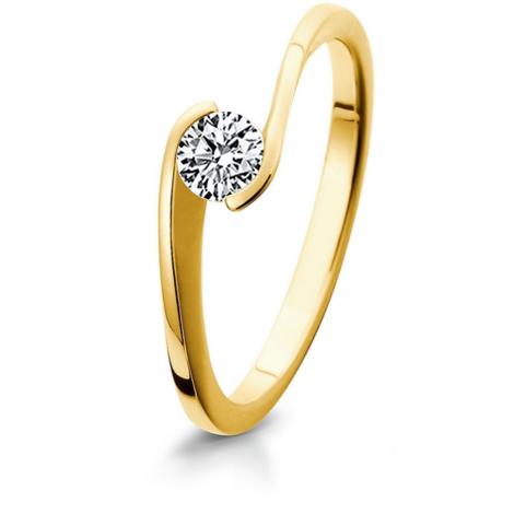 Bague de fiancaille en Or Jaune diamant de 0.10 ct - Kélianne