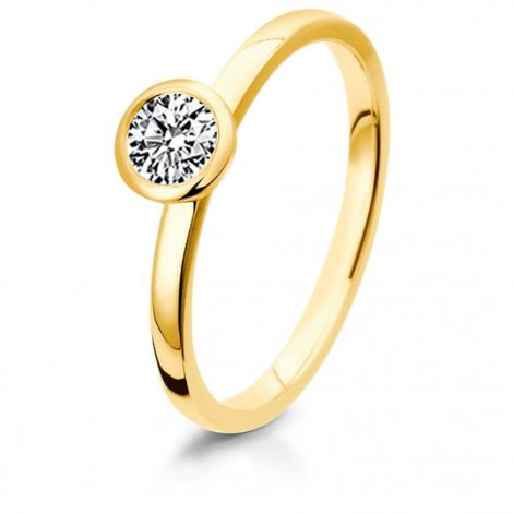 Bague de fiancaille en Or Jaune diamant de 0.10 ct - Yuliana