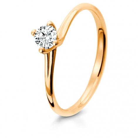 Bague de fiancaille en Or Rose diamant de 0.10 ct - Maria