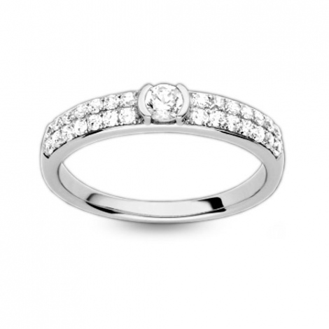 Solitaire en diamant demi clos 0.48 ct